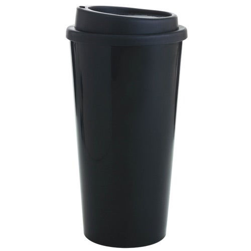 Double Wall Polypropylene Tumbler with Black Lid