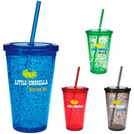 Advertising Double Wall Tumbler with Cooling Gel