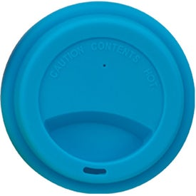 Imprinted Double Wall Ceramic Tumbler With Lid