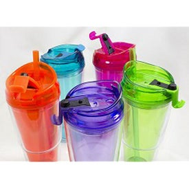 Dual Double Wall Acrylic Tumbler (16 Oz.)