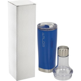 Duo Copper Vacuum Bottle and Tumblers (22 Oz.)