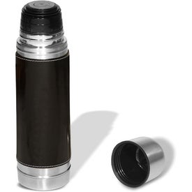 Advertising Empire Leather-Wrapped Thermos