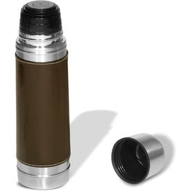 Empire Leather-Wrapped Thermos with Your Logo