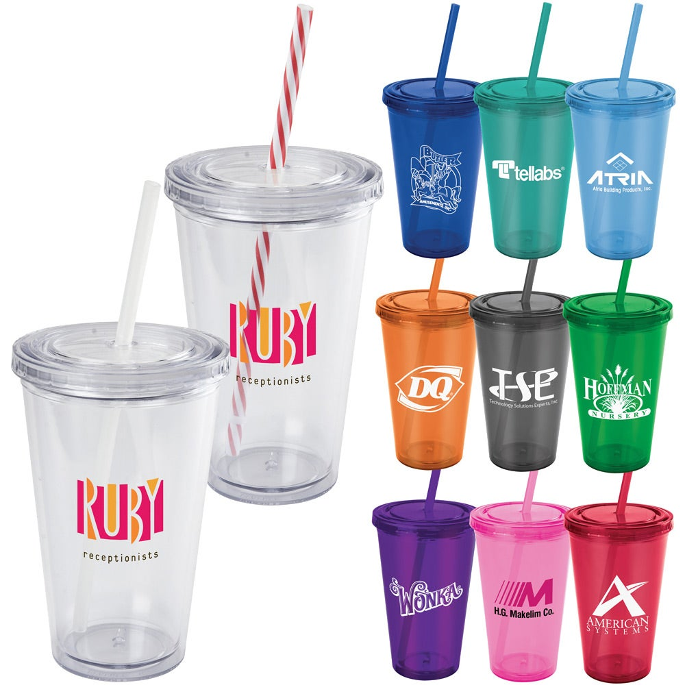 Promotional 16 Oz Everyday Plastic Cup Tumblers With