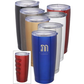 Finger Grip Stainless Steel Tumbler (16 Oz.)
