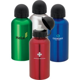 Flask with Domed Pull Top (17 Oz.)