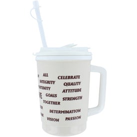 Personalized Flip Sip Mugs with Lid & Straw