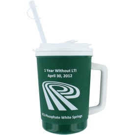 Flip Sip Mugs with Lid & Straw Printed with Your Logo