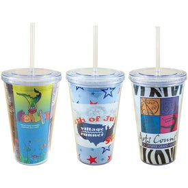 Freedom Design Tumbler Imprinted with Your Logo