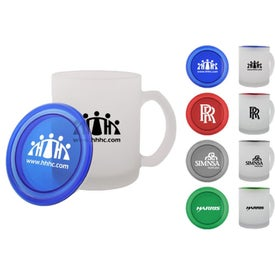 Frosted Mug with Lid for Advertising