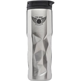 Geometric Pattern Steel Travel Mugs (13.5 Oz.)
