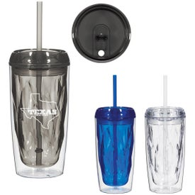 Glacier Tumbler With Straw (16 Oz.)