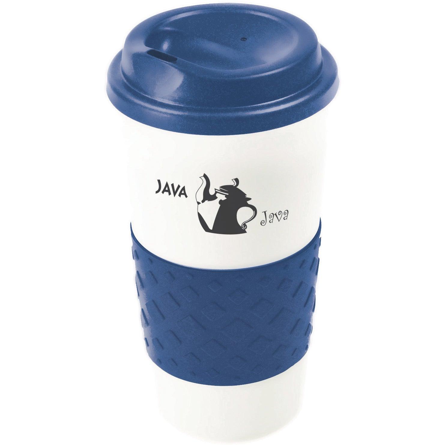 grip n go grande cup 16 oz promotional travel mugs ea. Black Bedroom Furniture Sets. Home Design Ideas