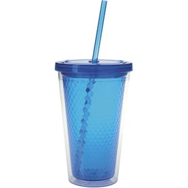 Double Wall Honeycomb Tumbler with Straw for Your Church