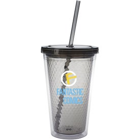 Personalized Double Wall Honeycomb Tumbler with Straw