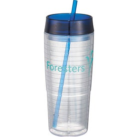 Hot & Cold Swirl Double-Wall Tumbler with Your Slogan