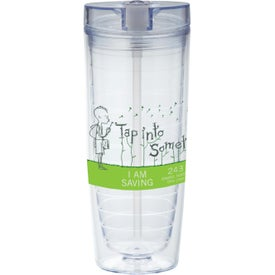 Hot & Cold Flip N Sip Vortex Tumbler Printed with Your Logo