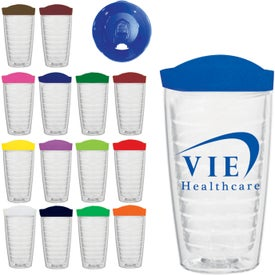 Hydro Double Wall Tumbler With Lid (16 Oz.)