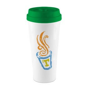 Monogrammed I'm Not A Paper Cup Tumbler