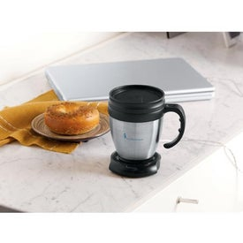 Monogrammed Java Desk Mug and USB Mug Warmer Set