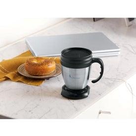 Monogrammed Java Desk Mug and USB Mug Warmer Set