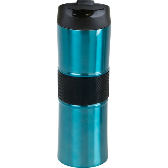 Light Blue / Black Kirra Vacuum Tumbler