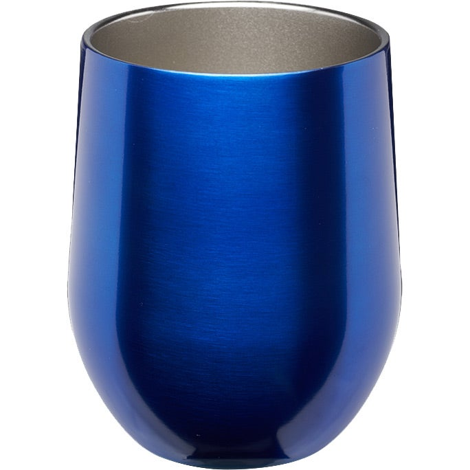 CLEARENCE 11 oz Stemless Wine Glass with Lid Free Fast Shipping BLUE!!!