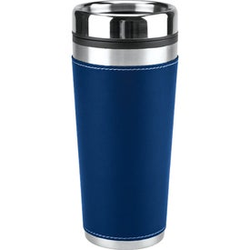 Advertising Leatherette Tumbler/Vacuum Bottle Set
