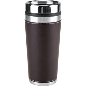 Customized Leatherette Tumbler/Vacuum Bottle Set