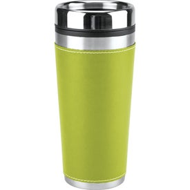 Personalized Leatherette Tumbler/Vacuum Bottle Set