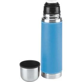 Branded Leatherette Vacuum Bottle