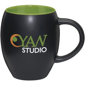 Matte Barrel with Color Mug with Your Slogan