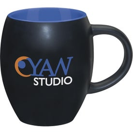 Matte Barrel with Color Mug Imprinted with Your Logo