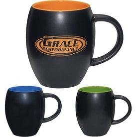 Matte Barrel with Color Mug (17 Oz.)