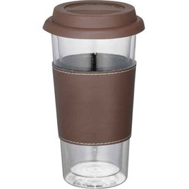 Mega Double Wall Glass Tumbler With Wrap for Marketing