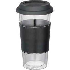 Advertising Mega Double Wall Glass Tumbler With Wrap