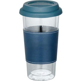 Mega Double Wall Glass Tumbler With Wrap with Your Slogan