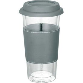 Imprinted Mega Double Wall Glass Tumbler With Wrap