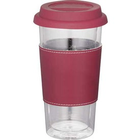 Mega Double Wall Glass Tumbler With Wrap with Your Logo