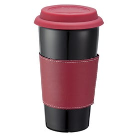 Mega Double Wall Ceramic Tumbler with Wrap for Your Company
