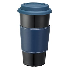 Mega Double Wall Ceramic Tumbler with Wrap with Your Logo