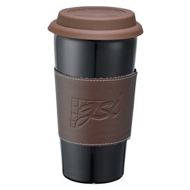 Mega Double Wall Ceramic Tumbler with Wrap for Customization