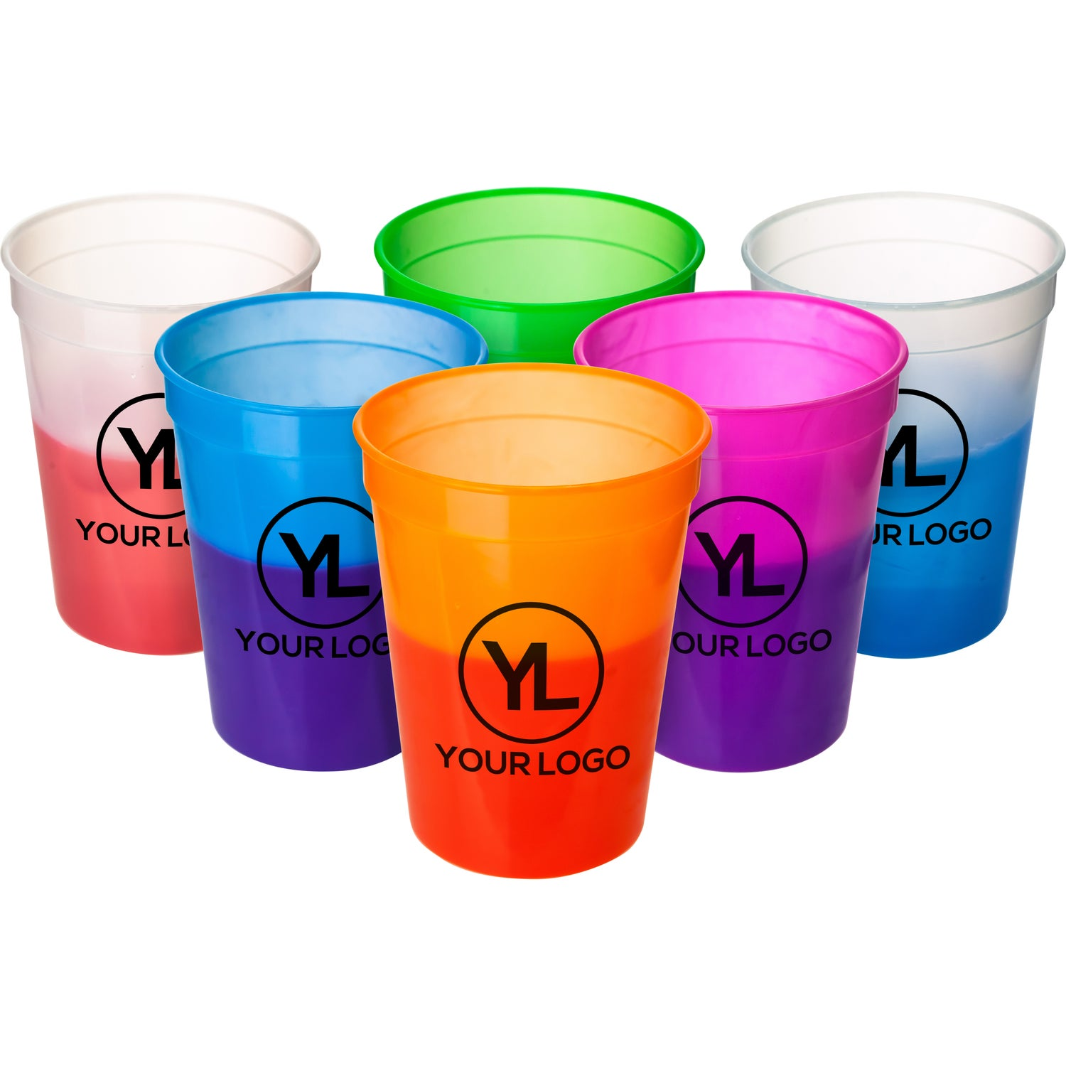 Promotional 12 Oz Mood Stadium Cups With Custom Logo For