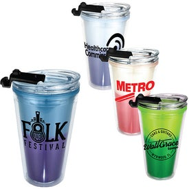 Mood Victory Acrylic Tumblers with Flip Top Lid (16 Oz.)