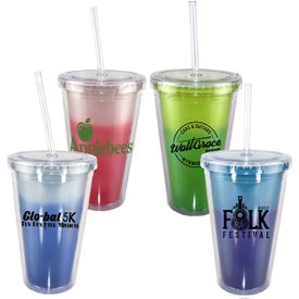 Mood Victory Acrylic Tumbler with Straw Lid (16 Oz.)