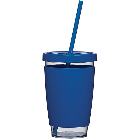 Blue / Clear Motley Tumbler