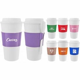 Logo Mug with Grip and Spoon