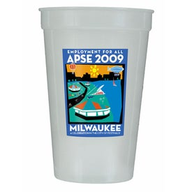 Nite Glow Stadium Cup (17 Oz., 2 Side)
