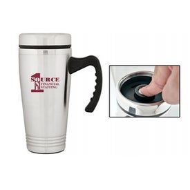 Non-Spill Travel Mug Imprinted with Your Logo