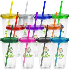 Oli Tumblers with Straw (16 Oz.)